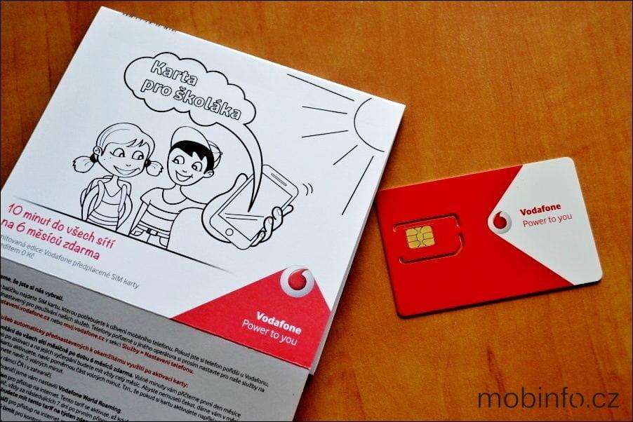 Vodafone Karta Skolaka V Realu Mobinfo Cz